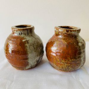 earthy squat vase